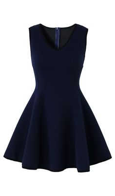 I love this navy skater dress... Navy is a neutral in my book, this dress could go with a lot of different colors.