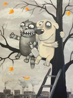 Забавные картины художника Васи Ложкина