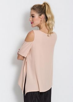 Blusa Colcci Rosê Ombros Vazados - Colcci