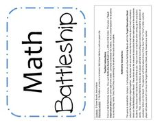 Math Vocabulary Battleship