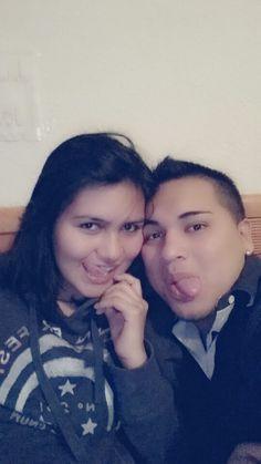 Con mi cuñada Jessica