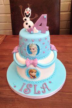 Design taken from the internet Elsa Birthday Cake, Frozen Themed Birthday Cake, Frozen Themed Birthday Party, Disney Frozen Birthday, Disney Frozen Cake, 4th Birthday, Disney Gefroren, Frozen Party Cake, Geek Birthday