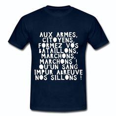 Tee shirt France La Marseillaise B | La France sur ta peau, marque Française de t-Shirts