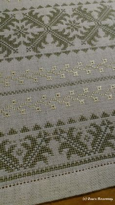 Table runner, simple design but the fabric gives it that sparkle.This Pin was discovered by hke Cross Stitch Love, Cross Stitch Borders, Cross Stitch Alphabet, Cross Stitch Designs, Cross Stitch Patterns, Hardanger Embroidery, Cross Stitch Embroidery, Embroidery Patterns, Hand Embroidery