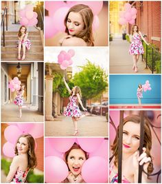 Avery | Senior 2018 | Keller High School senior, pictures, photography, portraits, high school, balloons, pink, summer, dress, girly, city, styled, shoot, session, fort worth, dfw, texas, tx www.kyleeswisherphotography.com
