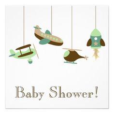 Flight Mobile Baby Shower Custom Invites