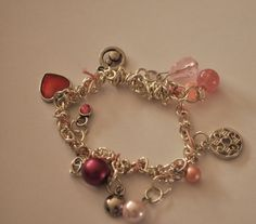 Perfectly Pink....Stretch Charm Bracelet  Now only $11 Come check it out!! by EnchantedJewelry2012