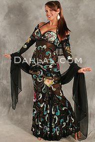 SHEER DELIGHT by Pharaonics of Egypt, Egyptian Belly Dance Costume, Available for Custom Order