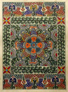 Madhubani painting - Harmony II | NOVICA