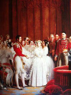 Queen Victoria Wedding .1840.