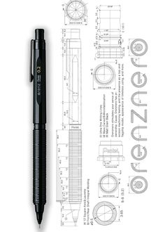 PENTEL – Orenz Nero mechanical pencil, 2017 flagship model with resin-metal body and auto-feed lead-support system. Designed by Maruyama Shigeki, Abiko Taikei and Ito Yoshikazu. Pen Down, Wooden Pencils, Pencil Design, Technical Drawing, Mechanical Pencils, Pen And Paper, Writing Instruments, Drawing Tools, Travel Journals