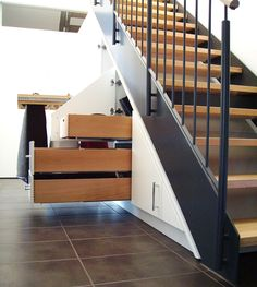Staircase Storage, Stair Storage, Stairs, Home Decor, Photos, Organisation, Home, Entryway, Open Stairs