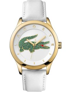 The trendy and elegant Victoria watches convey the Lacoste vibrant Joie De Vivre and audacity. Brand: Lacoste Gender: Women Dial Color: White Band Color: White Band Material: Leather Band Width (MM):