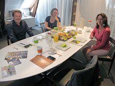 Op de L5-zolder zaten Rob Smith en Zita Bebenroth aan tafel met Gerrit Jan Schep en communicatieadviseur Cassandra Bosters van Stimulansz.
