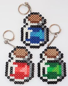 Legend of Zelda magic potion keychains perler beads by ThePlayfulPerler