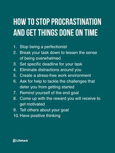 Procrastination - 10 Actions That Make The Difference