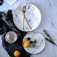 Celebrate your next dinner party in style with these stunning marble ceramic plates! Come in sets of 4 plates! Made from premium ceramic. Free Worldwide Shipping & Money-Back Guarantee Dinner Plate Sets, Dinner Sets, Dinner Plates, Marble Plates, Ceramic Plates, Plates And Bowls, Plates On Wall, Plate Wall, Vase Deco
