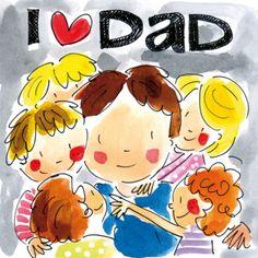Vader krijgt een knuffel- Greetz