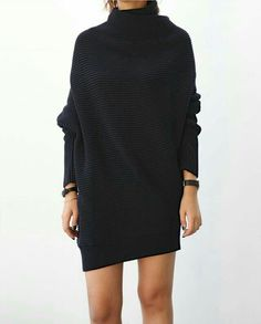All black | knitted dress