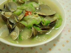 夏日絲瓜蛤蠣料理