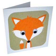 wobbly eyed fox card by stripeycats | notonthehighstreet.com
