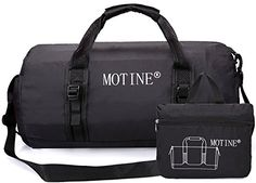 61bce74525 MOTINE Foldable Waterproof Travel Luggage Duffle Bag For Sports Gym  Vacation Black    You can get more details by clicking on the image.