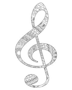 Sol and fa key coloring pages - Adult coloring book Adult coloring pages Music art Music print Gift for music lover Sol key Fa key Ornate Colouring Pics, Coloring Sheets, Coloring Books, Mandalas Painting, Mandalas Drawing, Adult Coloring Book Pages, Printable Coloring Pages, Art Chakra, Gift For Music Lover