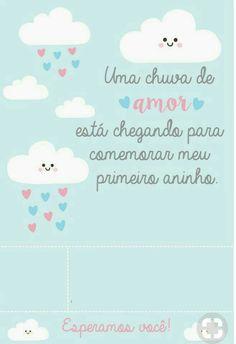 Modelo de convite chuva de amor para preencher  #chuvadeamor #aniversario #convite #festa #ideias #decoracoes