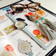Our new Chrono Gold Detail in Powder Blue and Silver has been featured in Hello! Fashion - isn't it a beauty? <3 #oliviaburton