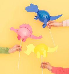 Decoración de globos con forma de dinosaurio: ¡qué chulo!