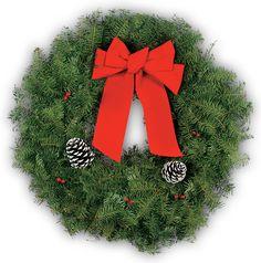 """Get your 26"""" Balsam Wreath & Hanger today!"""