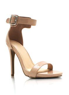 Faux Patent Ankle Strap Heels $25.40