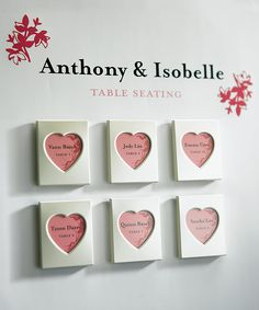 Cute idea for table seating, but can be used as a favor, as a save the date reminder, etc.