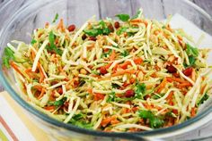 Checkout this flavorful Thai Ginger Peanut Slaw Recipe at LaaLoosh.com. This dish is a super simple, no-fuss salad that tastes incredible.