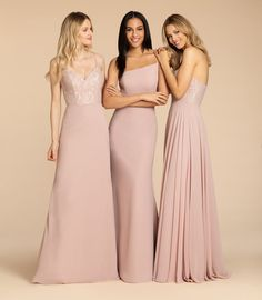 Style 5962 Arriving in Stores Mid Summer 2019 Hayley Paige Occasions bridesmaids gown - Sangria chiffon A-line gown, one shoulder neckline, natural waist. Haley Paige Bridesmaid, Bridesmaids, Bridesmaid Dresses, Wedding Dresses, Hayley Paige, Rose Lace, A Line Gown, Fashion Leaders, Lace Bodice