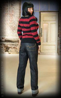 Ladies Worker Jeans - 50s Denim   Rockabella Style