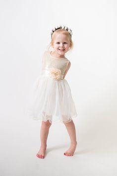 Ivory Tulle Flower Girl Dress, Gold sequin dress, Cream Tulle, Gold Ivory Cream Wedding, Sash Belt set, Gold glitter dress, Ivory tutu dress by NicolettesCouture on Etsy https://www.etsy.com/listing/266179064/ivory-tulle-flower-girl-dress-gold