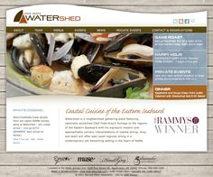 Chef Todd Gray's Watershed - Restaurant Website Design - by Seth Design Group