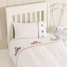 Buy Childrens Bedroom  Boys Bedroom  Sail Boats Duvet Cover  Pillowcase Set from The White Company