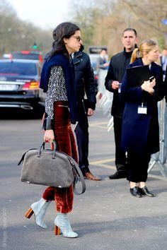 Paris – Leandra Medine velvet