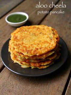 Aloo ka cheela or aloo chilla (Potato pancakes) Aloo Recipes, Veg Recipes, Indian Food Recipes, Vegetarian Recipes, Snack Recipes, Cooking Recipes, Sandwich Recipes, Cooking Tips, Indian Breakfast