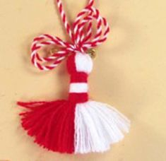 Valentine Day Crafts, Easter Crafts, Baba Marta, Preschool Classroom Decor, Valentine's Day Crafts For Kids, Cute Dolls, Tassels, Jewelery, Christmas Ornaments