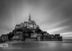 20:42 by StefanoCervellera  Mont saint michel architecture beach black and white calvados city clouds europe france long exposur