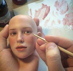 Michael Zajkov dolls once again Polymer Clay Figures, Polymer Clay Sculptures, Polymer Clay Dolls, Sculpture Clay, Ooak Dolls, Art Dolls, Decors Pate A Sucre, Sculpting Tutorials, Doll Tutorial