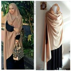 I do wonder if something about this shape might be useful for reconstructing a mantel. It's got the long end at one side like the one picture. Too bad the model isn't raising her arms like in so much of the period art. Muslim Hijab, Muslim Dress, Hijab Dress, Hijab Outfit, Abaya Fashion, Modest Fashion, Moslem Fashion, Modele Hijab, Bridal Hijab
