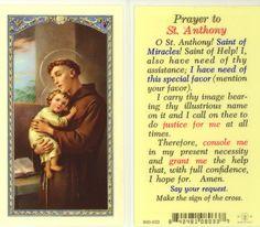 Prayer to St Anthony