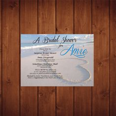 Beach Bridal Shower Beach Wedding Shower by ClassyYetSassyInvite