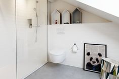 A view at the bathroom in the attic we designed for our completed Lili & Lola Project in Geneva Switzerland Geneva Switzerland, Timeless Fashion, Attic, Interior Architecture, Bathtub, Lily, Interiors, Bathroom, Projects