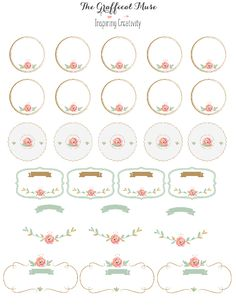 Free Printable Pink Floral Labels and Stickers