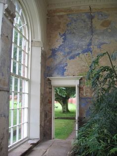 Inside the orangery of Calke Abbey. Photographed by Joss Cowan Munro. doors italy portal Inside the orangery at Calke Abbey Beautiful Wall, Beautiful Places, Of Wallpaper, Designer Wallpaper, Wall Treatments, Architecture, Porches, Interior And Exterior, Modern Interior